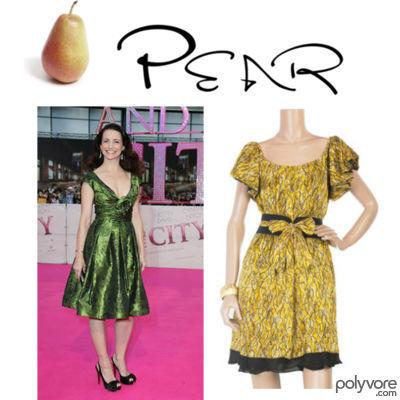 Dressing the pear body shape