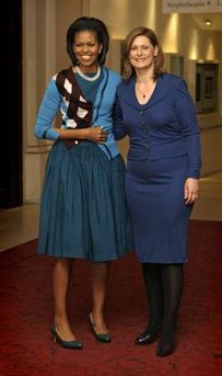 Michelle Obama and Sarah Brown