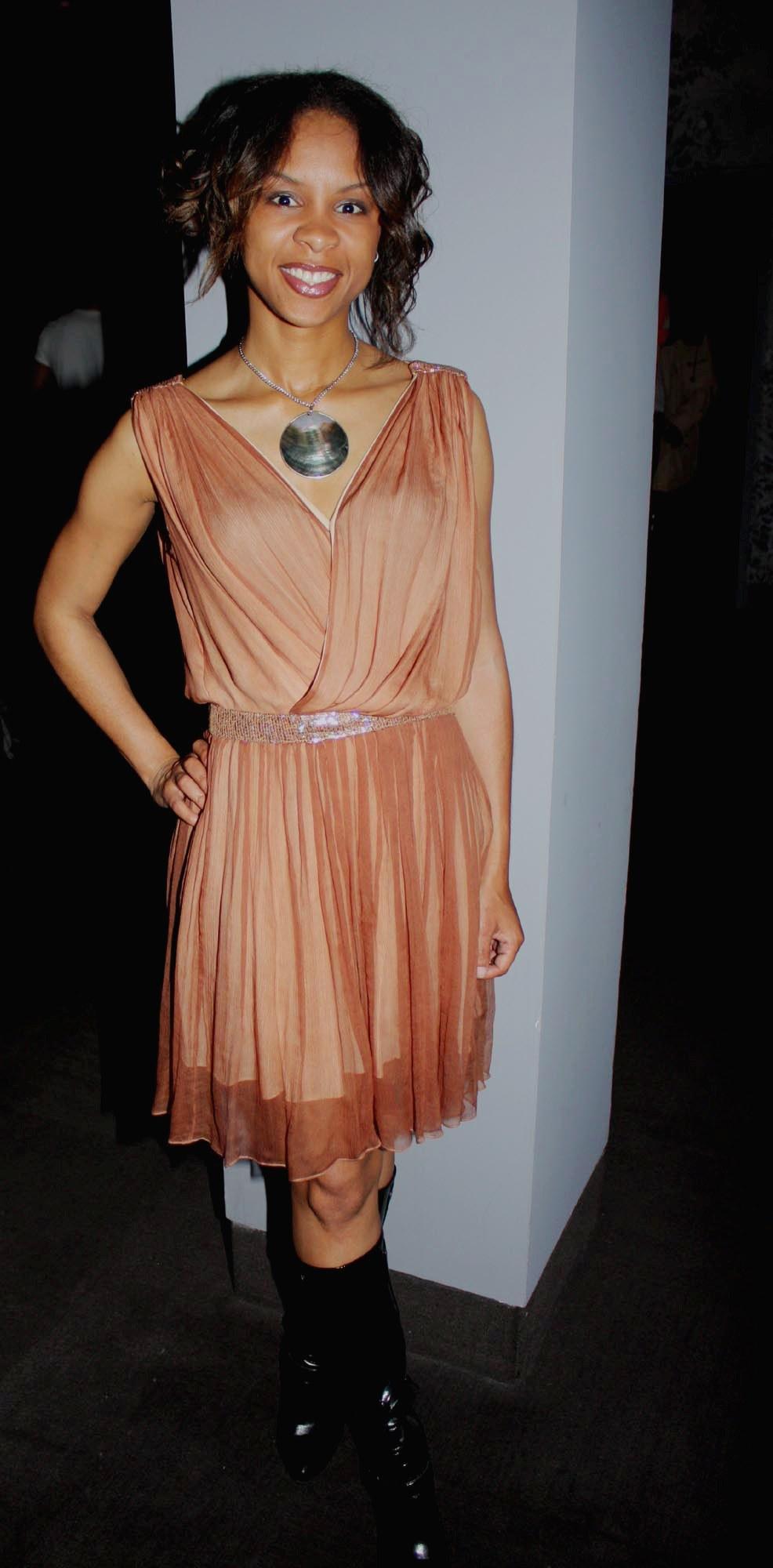Nichelle Pace wearing Tamara Pogosian