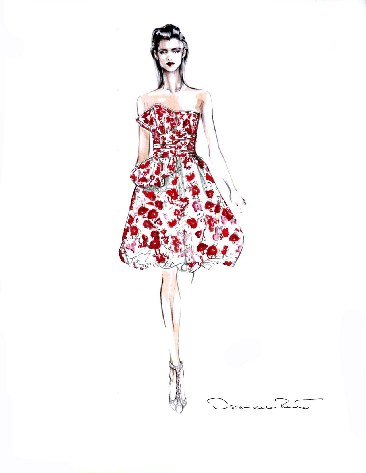 Oscar de la Renta Dress Ideeli