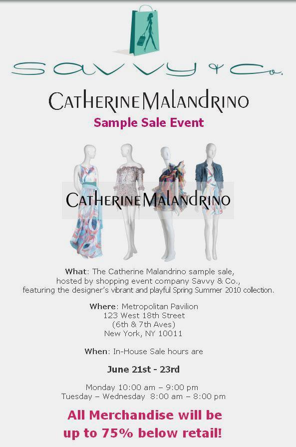 We Love Catherine Malandrino FFAWN Tees and Sample Sales – STYLEMOM