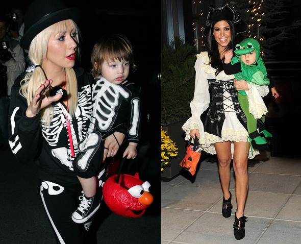 Christina Aguilera and Kourtney Kardashian Halloween