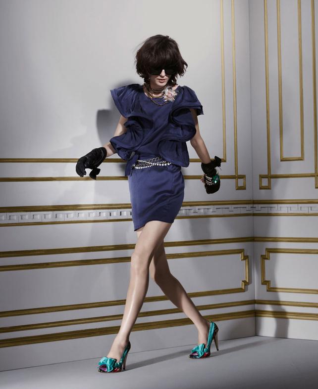 Lanvin for H&M ruffle sleeve dress