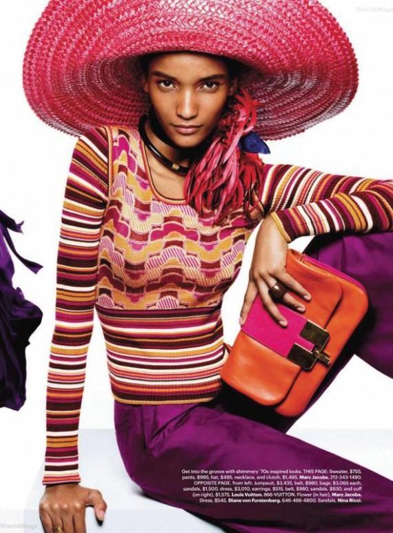 Harper's Bazaar March 2011 - Black Models spread