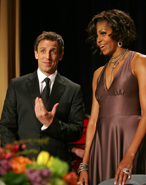 Michelle Obama and Seth Meyers