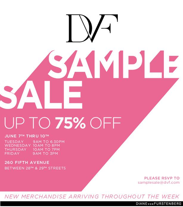 DVF Sample Sale 2011