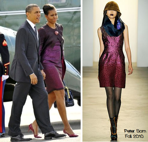 Michelle Obama wears Peter Som