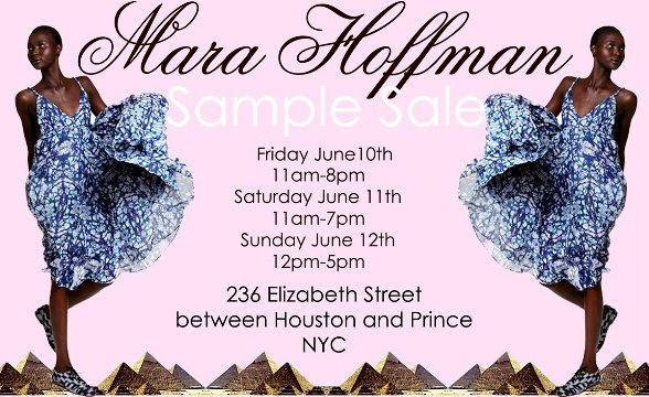 NYC: Mara Hoffman Sample Sale June 10-12th – STYLEMOM