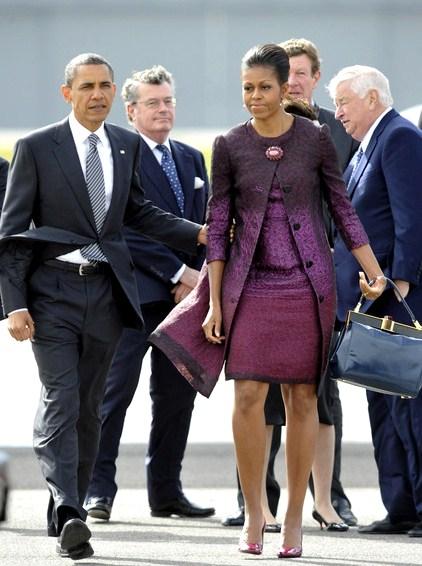Michelle Obama wears Peter Som