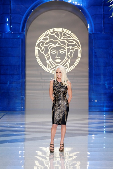 Donatella Versace in H&M Dress