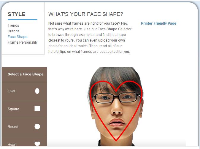 LensCrafters Face Shape