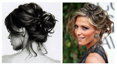 Messy hair updo