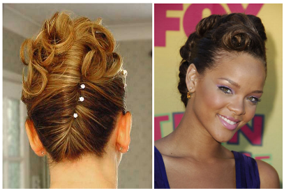 Pin Curl twist updo