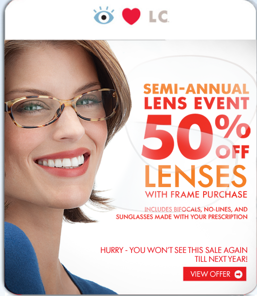LensCrafters Semi-annual sale