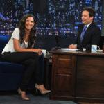 Katie Homes Jimmy Fallon Show chair