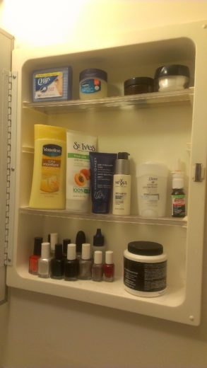 Medicine Cabinet Clean out Vaseline Total