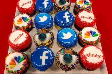 Xfinity Social Media Cupcakes