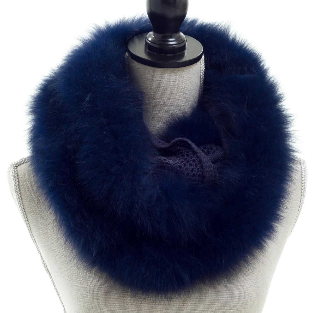 Knit Infinity Loop with Fox Fur Trim $225.00