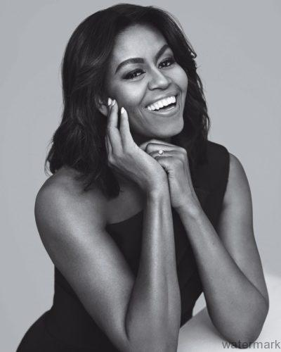 Michelle Obama Instyle Magazine Black and white